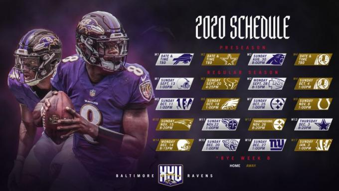 2020 Baltimore Ravens Season Tickets (Includes Tickets To All Regular Season Home Games) at M&T Bank Stadium
